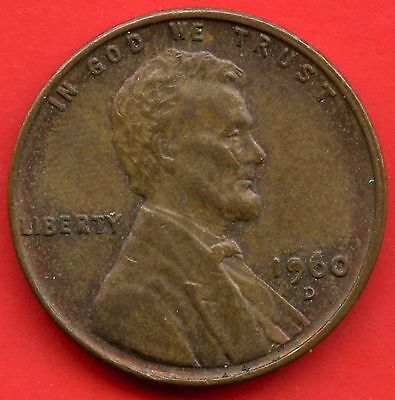 United States 1960 'D' Large Date Over Small Date 1 Cent & Filled 'S' In States