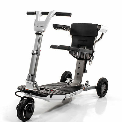 ATTO Wheelchair Compact Foldable Disability Mobility White Scooter Moving Life