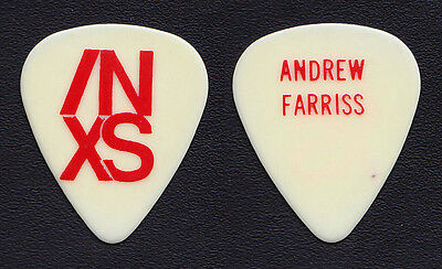 Vintage INXS Andrew Farriss White Guitar Pick - 1991 X-Factor Tour