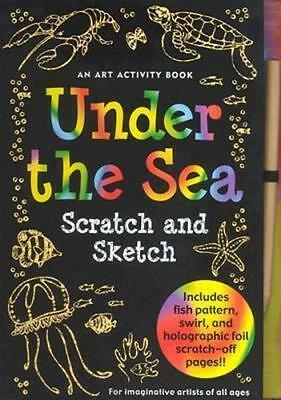 NEW Sketch and Scratch Under the Sea By Peter Pauper Press Spiral Ringed Book