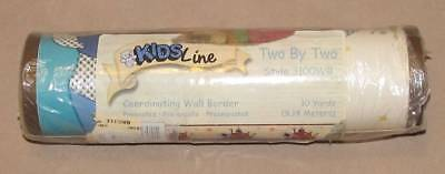 New Kidsline Two By Two Nursery Wall Border Noah's Ark Animals 2 By 2 10 Yards