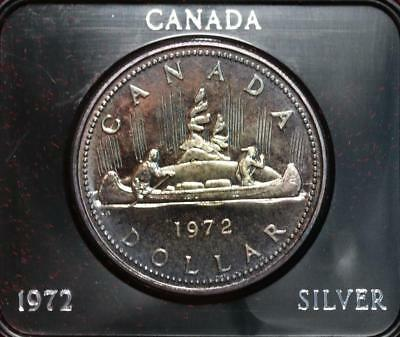 Uncirculated 1972 Silver Canada $1 Dollar Foreign Coin Free S/H