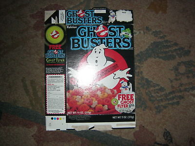 GHOST BUSTERS Ralston Cereal Box with Ghost Flyer offer on box 1985