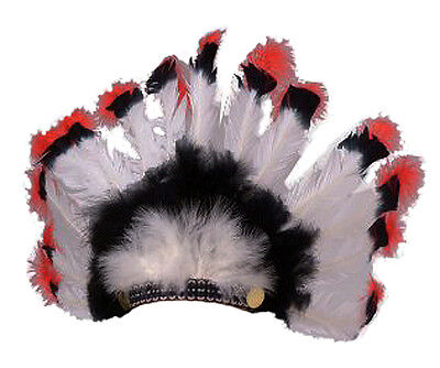 Native American Adult Indian War Bonnet Real Feather Headdress Costume Accessory