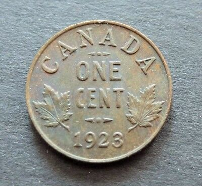 1923 Canada 1 Cent Coin, Circulated Condition, Lot#603