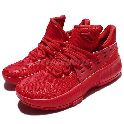 d64072b84da adidas D Lillard 3 J Damian Roots Dame 3 Red Junior Basketball Shoes BW0481