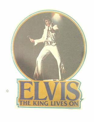 Elvis The King Lives On 1977 Original T-Shirt Iron-On Transfer #460