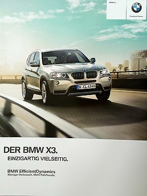 bmw x3 xdrive s20i x20i x28i x20d x35d prospekt. Black Bedroom Furniture Sets. Home Design Ideas