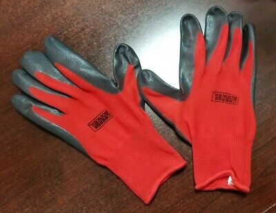 Grease Monkey Nitrile Coated Work Gloves 12 Pairs Size Large Red Black BIG TIME