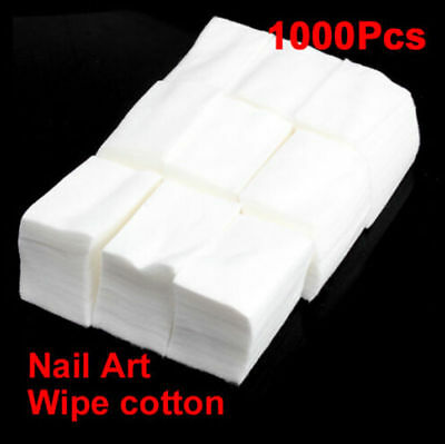 1000Pcs Nail Wipes Pads Art Gel Acrylic Polish Remover Pedicure Manicure Uk Post
