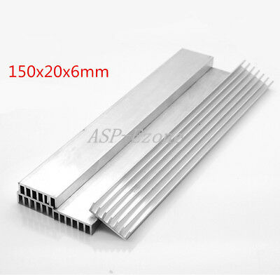10pcs Heat Sink 150x20x6mm LED Heat Sink Aluminum 150*20*6MM Cooling Fin