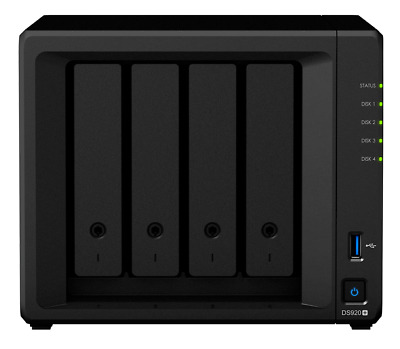 Synology DiskStation DS918+ 4GB Quad Core 4 Bays NAS - Diskless