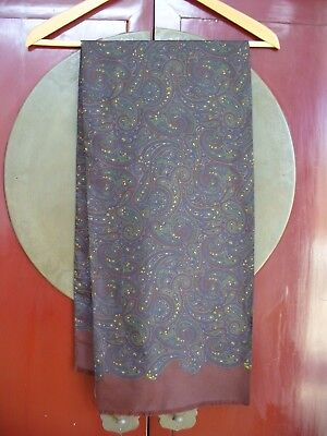 Vintage Silk  Paisley Scarf -  Perfect Condition