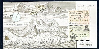 2017 Christmas Island Early Voyages - Mint Unhinged Mini Sheet