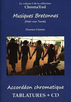 Accordion chromatic Tablatures Musiques Brittany +CD