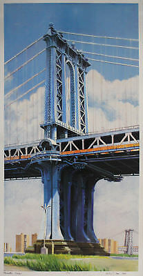 Richard Haas - Manhattan Bridge - handsigniert
