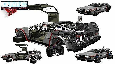 Back To The Future DeLorean Cutaway Drawing Poster/Print