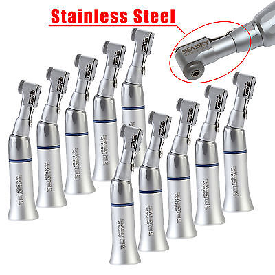10PCS NSK Style Dental Slow Low Speed Handpiece Contra Angle E-Type Latch EP UK