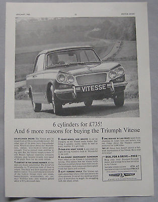 1963 Triumph Vitesse Original advert