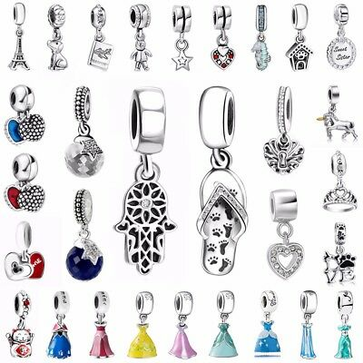 Luckly Pendant Charms Bead Fit European 925 Silver Sterling Bracelets Necklace