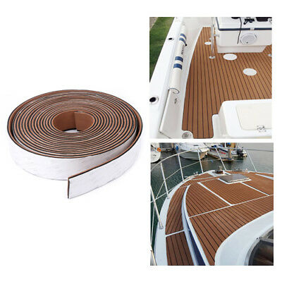 950x5.8cm 6mm EVA Boat Flooring Teak Decking Edges Sheet Pad Black Caulking