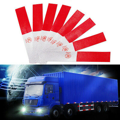 5X Red Reflective Safety Decal Warning Conspicuity Tape Film Truck Car Sticker