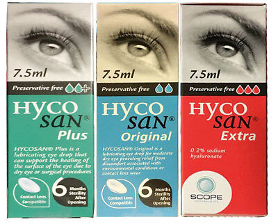 3 PACK Hycosan Extra Plus Eye Drops