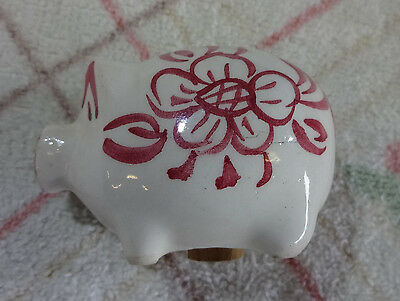 Collectable Egg Cup.   Cute Little Pig With Pink Floral Design. Salt/pepper.?