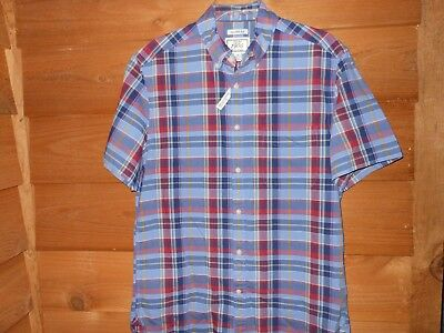 Mens Jos. A. Bank Indian Madras Plaid Shirt, Tailored Fit, Size Medium, New!