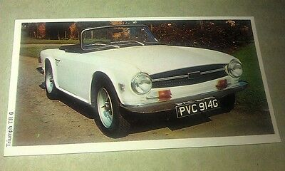 1971 TRIUMPH TR6  Daily Express UK Trade Swap Card