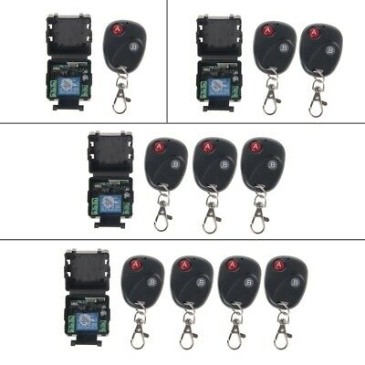 DC12V 0A 433MHz Wireless RF Relay Remote Control Switch Receiver Transmitter Kit