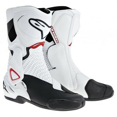 Alpinestars SMX-6 Mens Racing Boots White/Black/Red