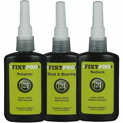 Assorted Pack of FIXT Anaerobic Adhesives - Large Bottles