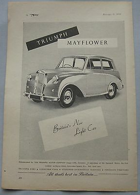 1950 Triumph Mayflower Original advert No.1