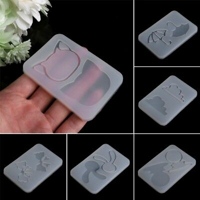 Silicone Hourglass Water Injection Mud Board Mold Resin Jewelry Making Pendant