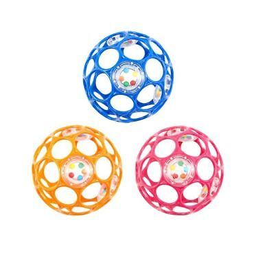 Oball With Rattle Soft, Flexible Ball With Rattle 0m+ One Supplied NEW