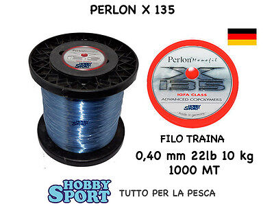 FILO PERLON  mt 1000 X 135 TRAINA BIG GAME 22 LB OMOLOGATO IGFA CLASS mm 0,40