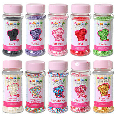 Non-Pareils Sugar Sprinkles by FunCakes 100's & 1000's Cake Cupcakes Cake Pops