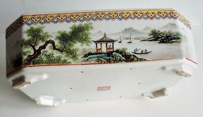 Beautiful Rare Old Chinese Hand-Painted Pot / Planter - Various Character Marks