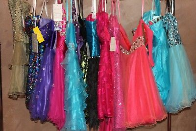 NWT LOT of 13 short beaded prom dresses, Variety of styles, designers, sizes