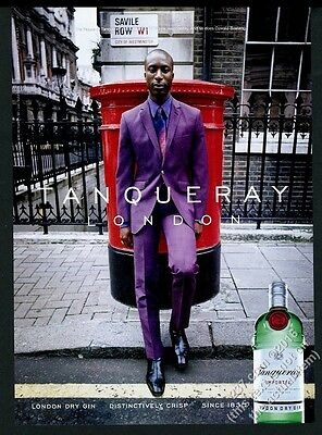 2000 Ozwald Boateng photo Tanqueray Gin vintage print ad