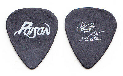 Poison C.C. DeVille Small Signature Black Guitar Pick - 1988 Tour