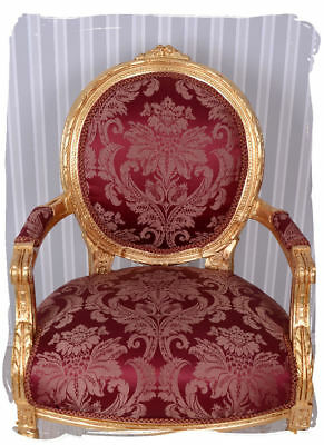 Chair Baroque Marie Louise Baroque Armchair Chair Antique Gold Armchair
