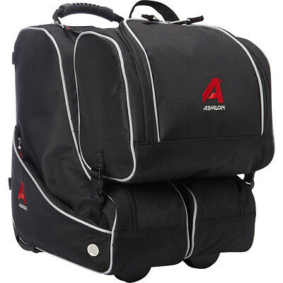 Athalon Butterfly Wheeling Carry-on Boot Bag - Black Ski and Snowboard Bag NEW