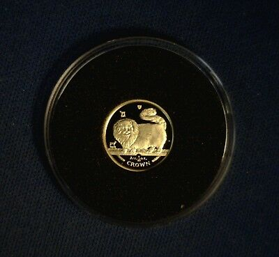 1997 Isle of Man Long Haired Smoke Cat 1/25 oz Gold Proof