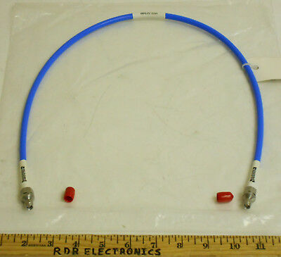 """Storm Microwave 31"""" Low Loss True Blue .290"""" SMA Male Coaxial Cable DC-18GHz NOS"""