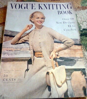 Rare Vtg 1950s Vogue Knitting Book 1954 70 Designs To Knit Hats