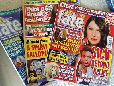 Three Backdated Psychic Mags, Chat It's Fate & Take A Break Fate & Fortune