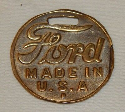 Vintage Ford Made In USA advertising watch fob