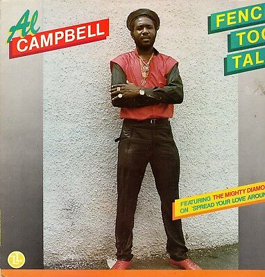 """"""" FENCE TO TALL. """" al campbell. LIVE & LEARN RECORDS UK orig L.P 1987."""